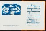 15 x 12 cm geschlossen, 144 x 15 cm geöffnet, 24 Seiten, Cyanotypie Linolschnitt Video, © Johannes Raimann 2015